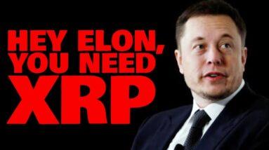 ELON MUSK'S TESLA STOPS BITCOIN TRANSACTIONS; They Need XRP