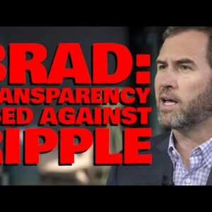 """Ripple CEO: """"OUR TRANSPARENCY GETS USED AGAINST US"""" & XRP Has ZERO INFLATION Unlike Bitcoin"""