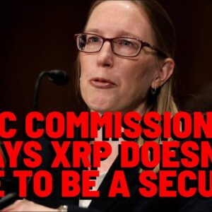 SEC Commissioner Says XRP DOESN'T HAVE TO BE A SECURITY