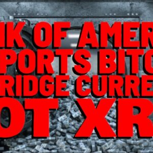XRP NO MORE?! Bank of America Supports BITCOIN AS BRIDGE CURRENCY Instead of XRP
