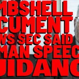 BOMBSHELL: SEC Advised 3rd Party TO USE HINMAN SPEECH FOR REG. CLARITY!