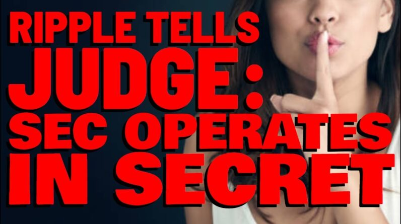 Ripple Tells Judge: THE SEC BELIEVES IT'S ENTITLED TO OPERATE IN SECRET